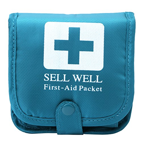 Shoresu Outdoor Camping Home Survival Portable First Aid Bag Medicine Pill Box Case Blue by Shoresu