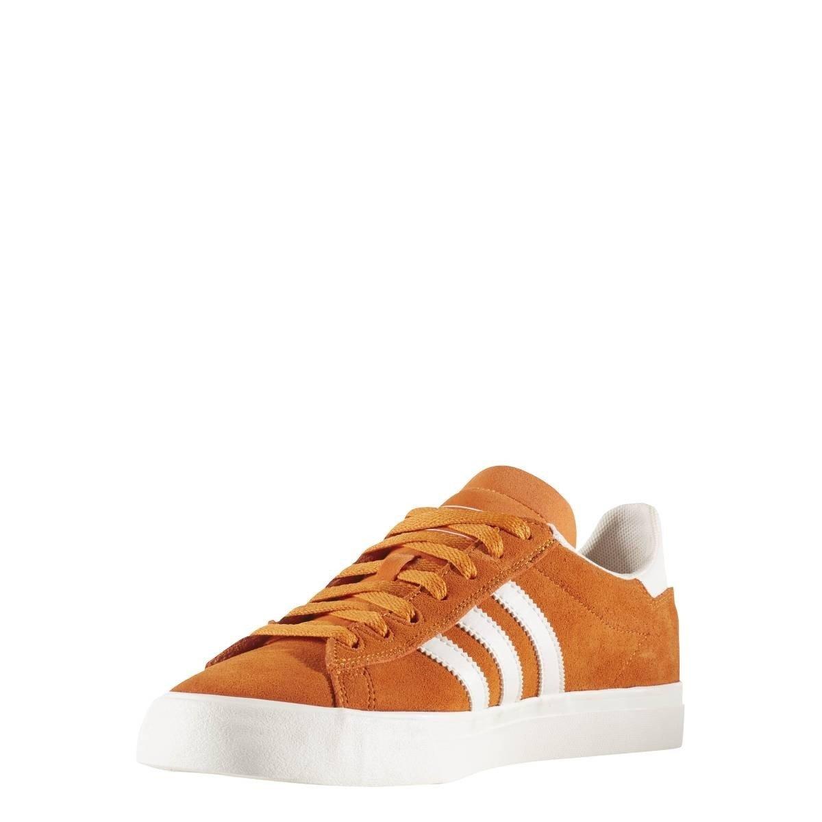 adidas Skateboarding Campus Vulc II ADV, Tactile Orange-Chalk White-Chalk White 10|Tactile Orange-chalk White-chalk White