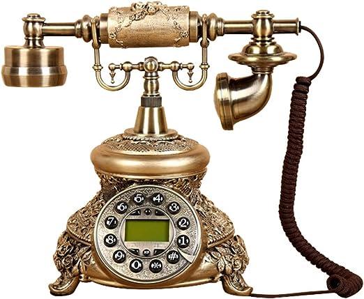 ZhangHJDHJ Línea clásica Retro Europea Teléfono inalámbrico de Estilo Antiguo Estilo Vintage Antiguo teléfono de Resina, teléfono Fijo Fijo y decoración de Oficina: Amazon.es: Hogar
