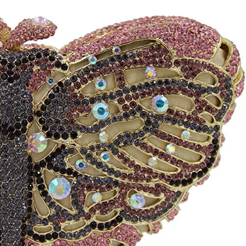 Rhinestone sac Women's main à papillon porte soirée monnaie sac coloré favourite de A 5r5qI4w
