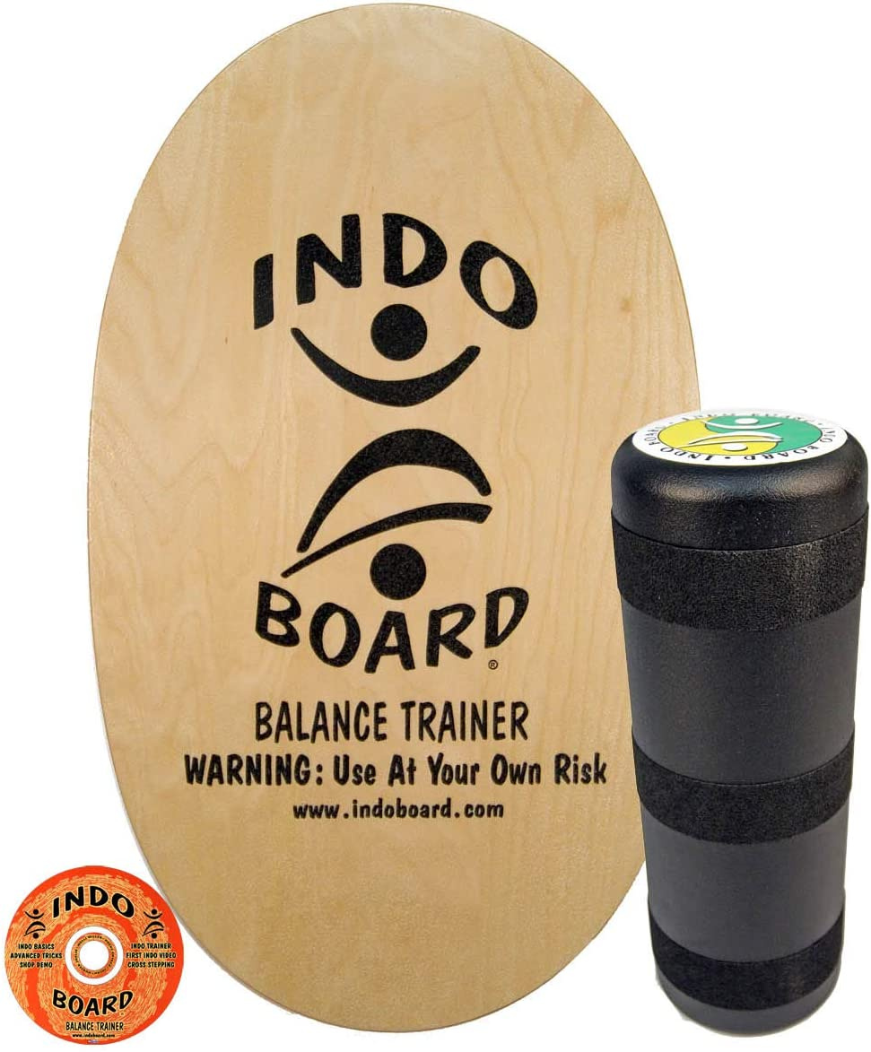 INDO BOARD Original Balance Board for Fun, Challenging Fitness and Sports Training. Comes with 30 X 18 Non-Slip Deck, 6.5 Roller and Available in 14 Color Choices