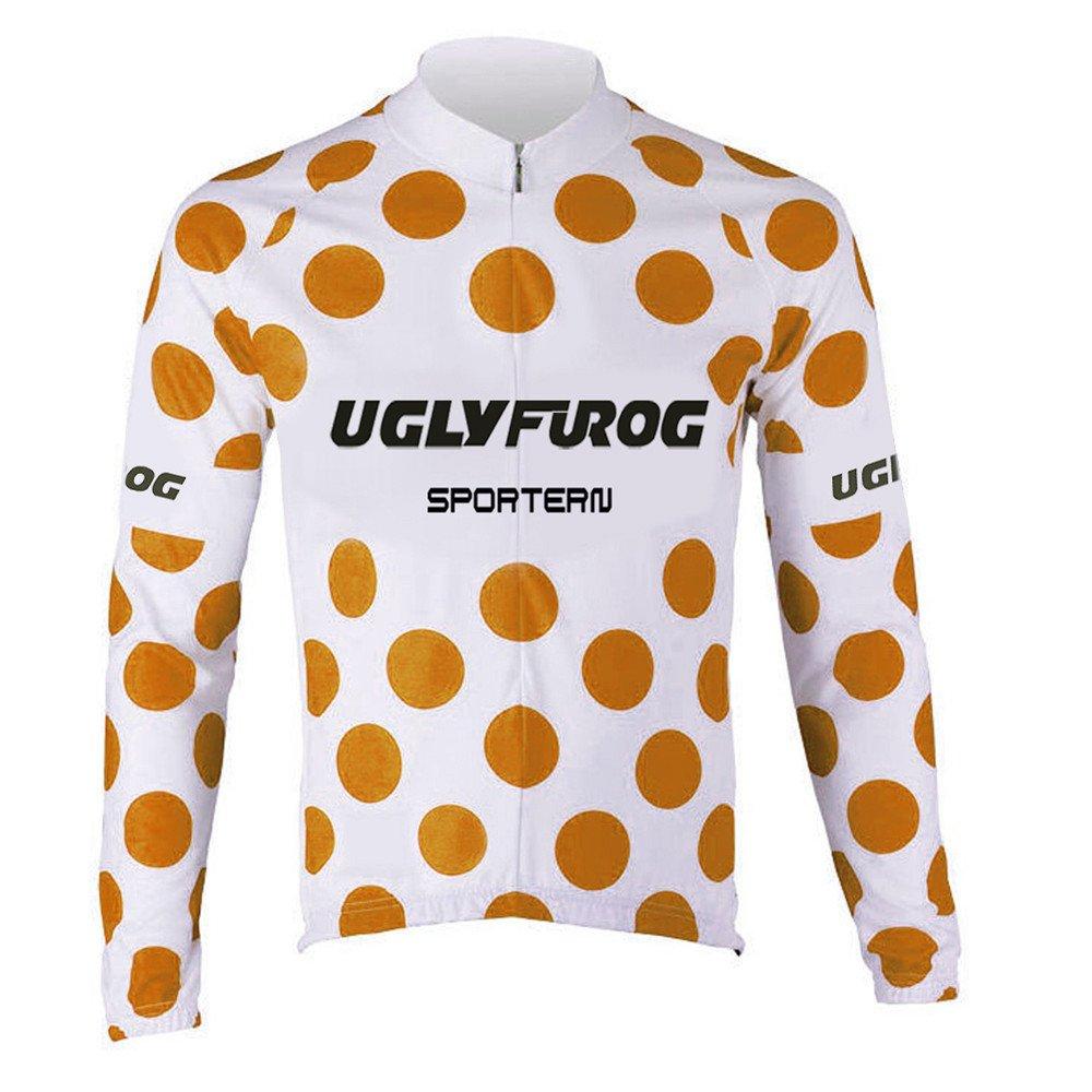 Uglyfrog HDWLJ05 Radsport Trikots Lange Ärmel Sport & Freizeit Winter Pro - Thermo Herren-Fahrrad-Jersey - Lang-Ärmel-Slim-Fit-Fahrrad/MTB-Shirt