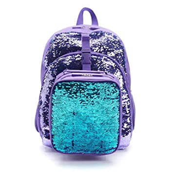 Kids Flippable Sequin Backpack   Lunch Bag Set (Purple)  Amazon.co ... 3e044a342ceb2