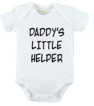 e2e56c0f daddys little helper dad father funny baby clothing vest cool baby grow  gift kids children girl