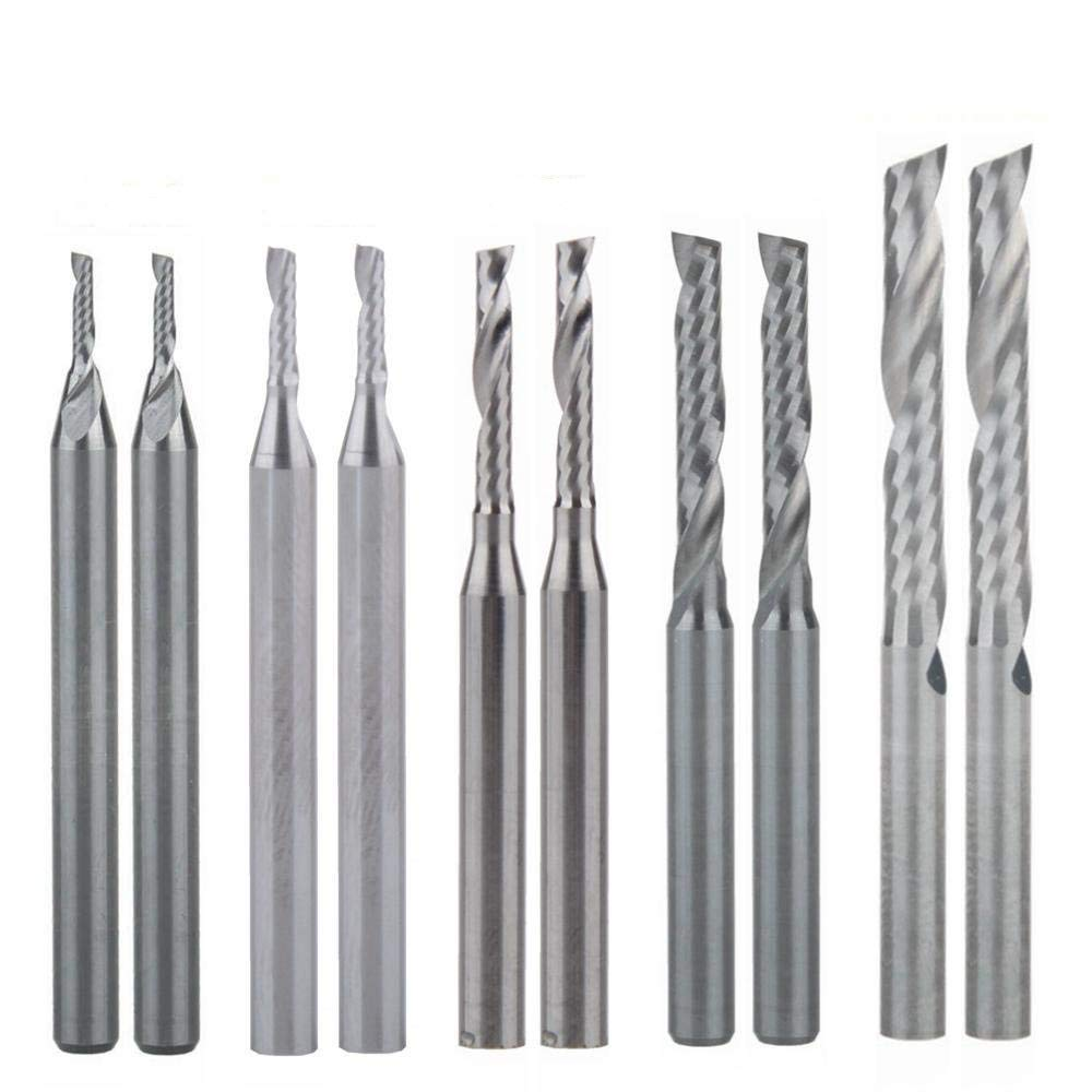 Wood Working Set Dia 1mm 1.5mm 2.0mm 2.5mm 3.175mm Carbide Ball Nose End Mill