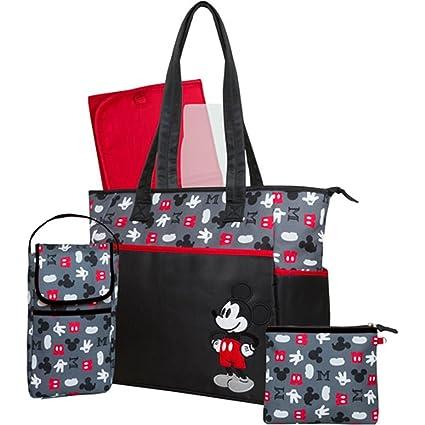 Disney Mickey Mouse Bolso cambiador + biberones Bag Joven con cambiador + Minnie Bag XL