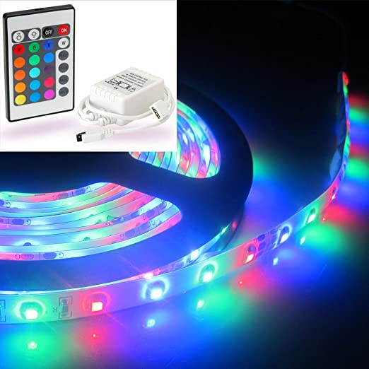 1 metre rgb colour changing led strip with 24key remote controller 1 metre rgb colour changing led strip with 24key remote controller perfect for under abinet mozeypictures Image collections