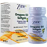 Zane Hellas Oregano Oil Softgels. Concentrate 4:1 Provides 108 mg Carvacrol per Serving. 60 Softgels- Capsules with Pure Essential Oil of Oregano and Extra Virgin OIive Oil.