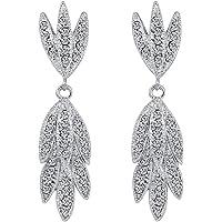 Earrings Women Sterling Silver Studs Small Hoop Long,Fashion Zircon earrings Diamond-encrusted love heart earring for girls