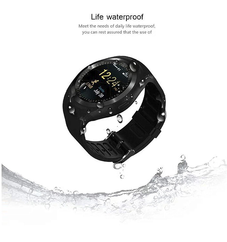 linyingdian Reloj Inteligente con podómetro de Pantalla táctil con Ranura para Tarjeta SIM, Adecuado para mijo/Huawei/Samsung Hombres y Mujeres ...