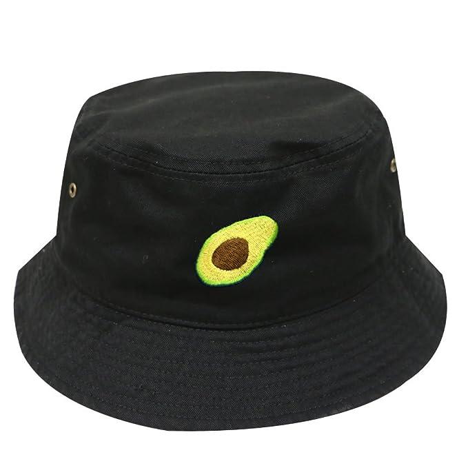 119a55f4569 City Hunter Unisex Avocado Summer Plain Bucket Hat - Multi Colors (Black)
