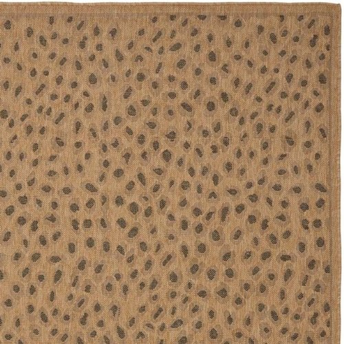 Safavieh Courtyard Collection CY6104-39 Natural and Gold Indoor/ Outdoor Area Rug (5'3'' x 7'7'')