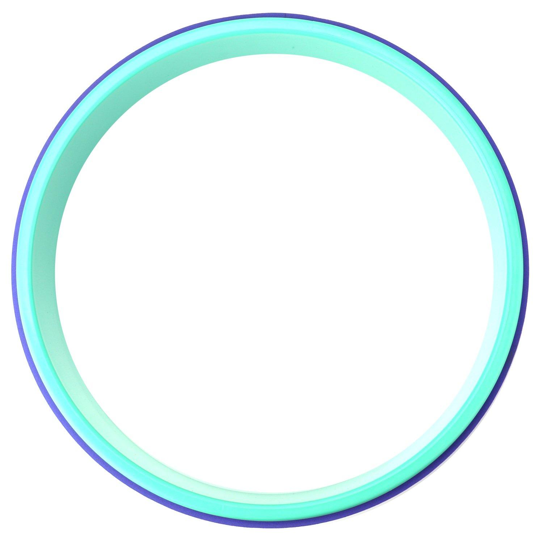 Stabiler und Rutschfester Yoga Wheel Rolle mit E-Anleitung bei Dharma Yoga Asanas Posen f/ür Dehn/übung Flexibilit/ät Reehut Yoga Rad Belastbarkeit bis 200KG R/ückbeugen