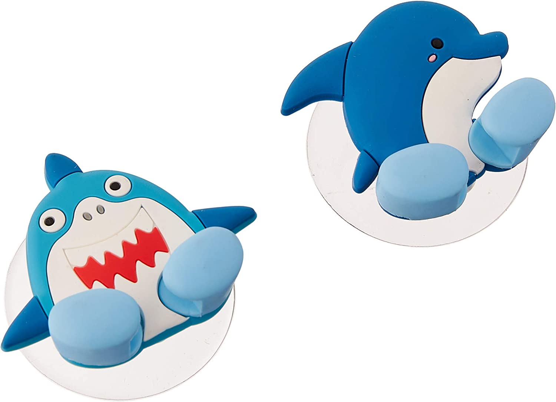 Fox Run Shark and Dolphin Toothbrush Holders, 1.25 x 2.5 x 2.25, Multicolored