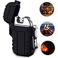 leegoal Dual Arc Lighter, Waterproof Windproof Flameless Plasma Lighter with Charging Cable & Hanging Rope …