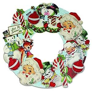 Bethany Lowe - Christmas - Retro Christmas Die Cut Wreath - RL2905