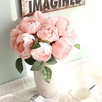 Amazon De Unechte Blumen Kunstliche Deko Blumen Pfingstrose Seide