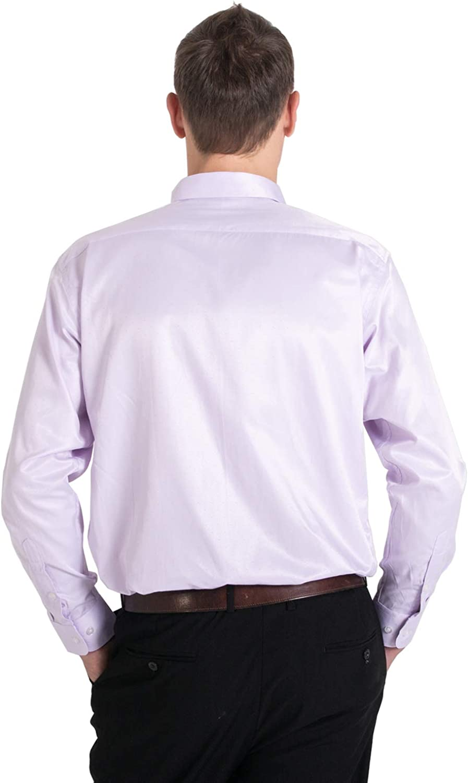 Meerway Camisa para Hombre de Manga Larga Formal Camisas cl/ásicas de Negocios de Ocio Regular fit