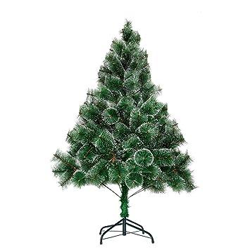 Tannenbaum Grün.Aufun Weihnachtsbaum Künstlich 180cm Künstlicher Weinachts Baum Deko Tannenbaum Grün Tannennadeln Mit Schnee Effekt Mit Metallständer Ca 245