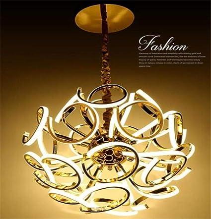 Lámpara Araña Lámpara De Salónpersonalidad Luces Colgantes Led Europeas Luces Led Doradas Plateadas Luces Led Brillantes