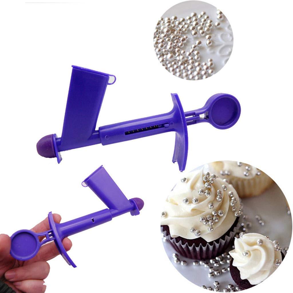 Bibao Applicateur de perle pour le gâteau, outil de décoration de gâteau, outil de cuisine Applicateur de perle (Pourpre, 2PCS)