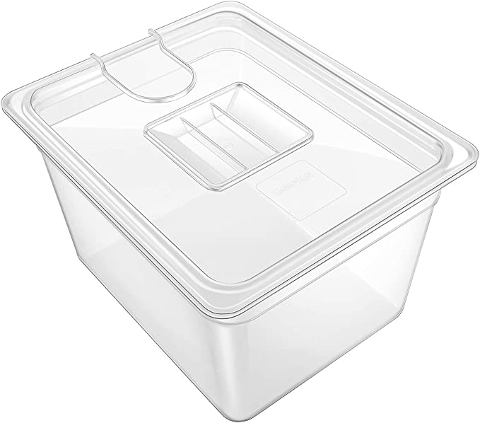 Amazon.com: GEESTA Crystal-Clear Sous Vide Container with Lid-12qt, Fits Most Sous Vide Cookers: Kitchen & Dining