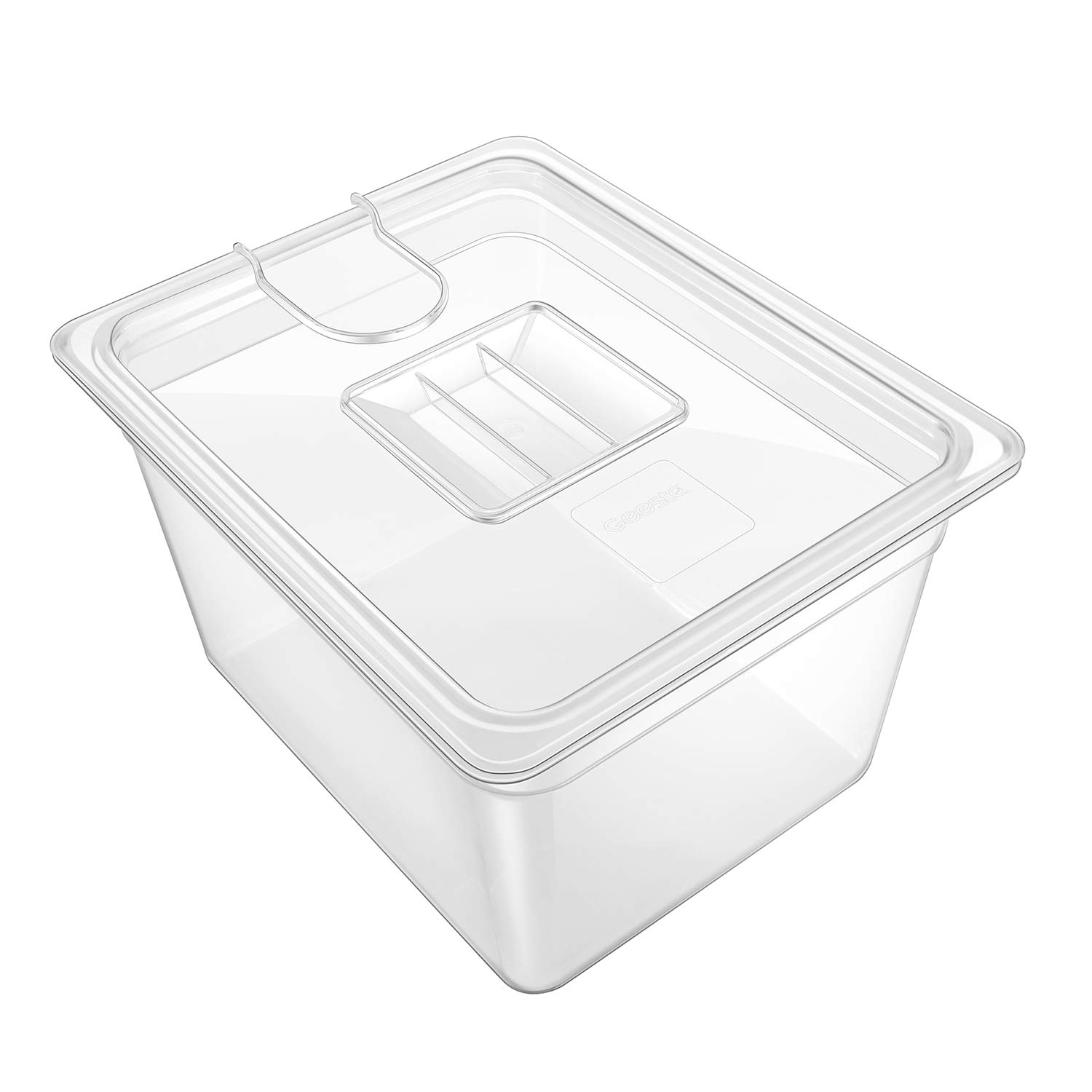 GEESTA Crystal-Clear Sous Vide Container with Lid-12qt, Fits Most Sous Vide Cookers by Geesta