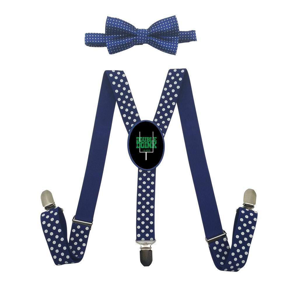 Grrry Unisxes Double Doink Football 2 Adjustable Y-Back Suspenders /& Bowtie Set
