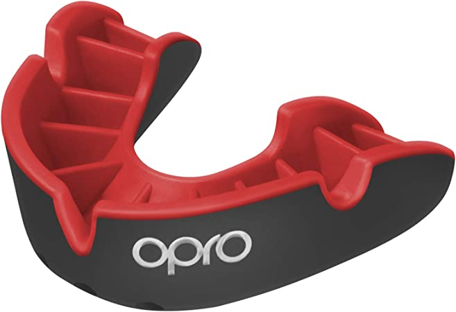 Black//Red Opro Silver Gen 4 Mouth Guard Gum Shield Adult//Junior