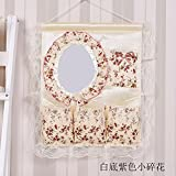 Fabric multilayer storage hanging bag, with mirror storage bag, Hanging Cosmetic bag hanging pocket,D