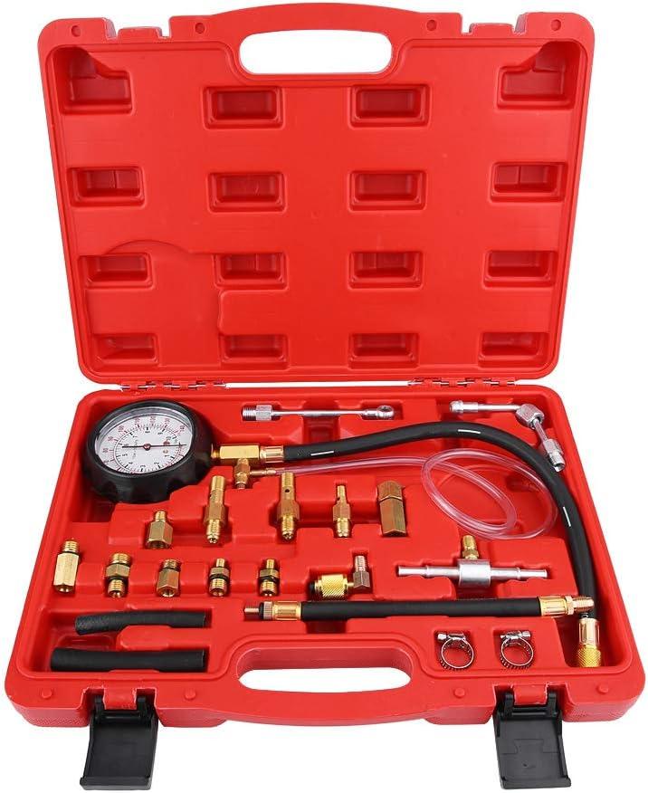 Kit de probador de presión de inyección de combustible Sistema de combustible multifunción Indicador de presión Bomba de inyección Herramienta de diagnóstico TU-114
