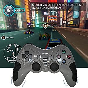 Ivbuy Wireless Controller Game Pad Joystick Gamepad ,Dual Vibration ,Double Controllers Turbo Clear and Auto Function with free CD for PS1 PS2 PS3 Consoles PC WIN98 ME 2000 XP VISTA WIN7