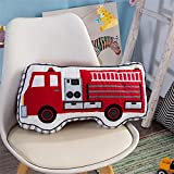 Brandream Boys Pillow Fire Truck Pillow Boys Bedroom Decorative Throw Pillows Cotton Kids Bedroom Decor