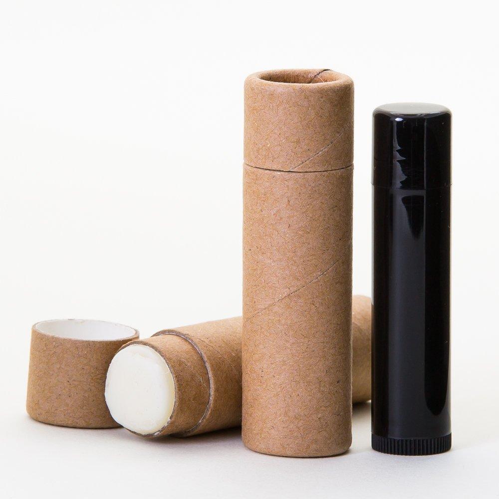 1/3 OZ Kraft Paperboard Lip Balm/Salve/Cosmetic/Lotion Tubes x500