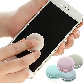 Color Caramelo Limpiador de Pantalla, Maccaron Teléfono Móvil Llavero Adornos, para Ordenador, Teléfonos Móviles, iPad, Ordenador Portátil, SLR y Gafas ...