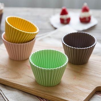 TAMUME Moldes Porcelana para Magdalenas y Cupcake Moldes para Mini Tart Set de 4: Amazon.es: Hogar