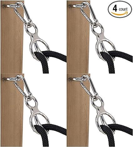 Horse Tie Ring Chrome U-TY04 Blocker Tie Ring Set Of 4