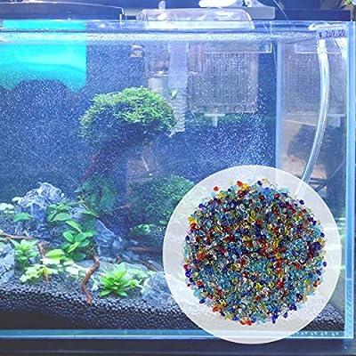 ULTNICE Glass Gems Beads Decorative Sand Rock Stones for Garden Flowerpot Vases 0.44Lb