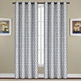 Cheap United Curtain Oakland Woven Window Panel, 54 by 84″, Blue, 54″ X 84″