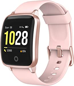 LETSCOM Smart Watch, Fitness Trackers with Heart Rate Monitor Step Calorie Counter Sleep Monitor, IP68 Waterproof Smartwatch 1.5