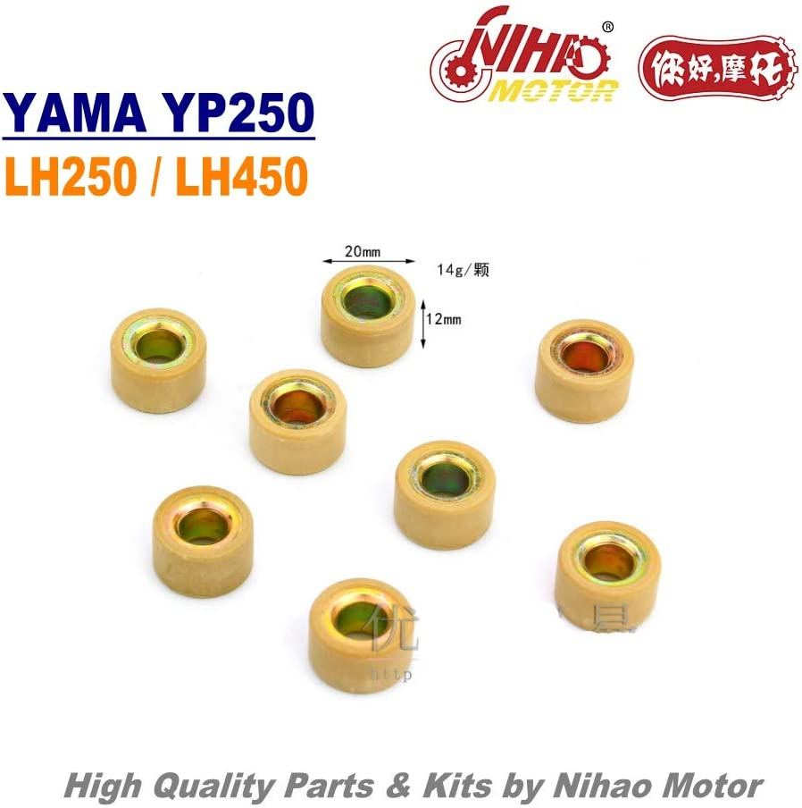 TZ-52 250cc Variator Roller Pully 20x12 Linhai Parts YP250 LH250 ATV QUAD Chinese Motorcycle Engine Spare Nihao Motor