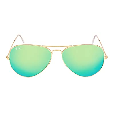 ray ban green polarized aviator  Amazon.com: Ray-Ban Original Aviator Sunglasses (RB3025) Gold ...