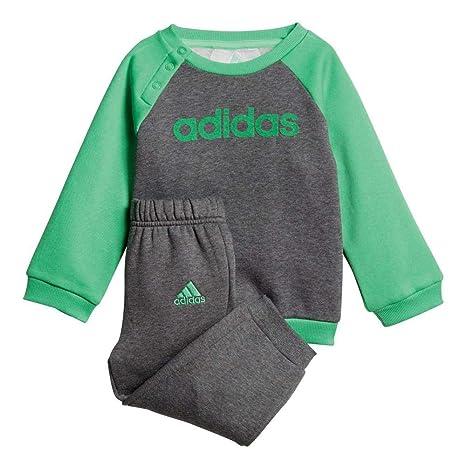 buy popular 48d70 cf5ff adidas I Lin FL Pantalón de Chándal, Niños, Gris Verde (Dark Heather