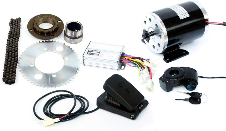 500ワット電動オートバイモーターキット使用25 25hチェーンドライブ高速電動スクーター交換電気ゴーカート変換キット 24V500W pedal kit