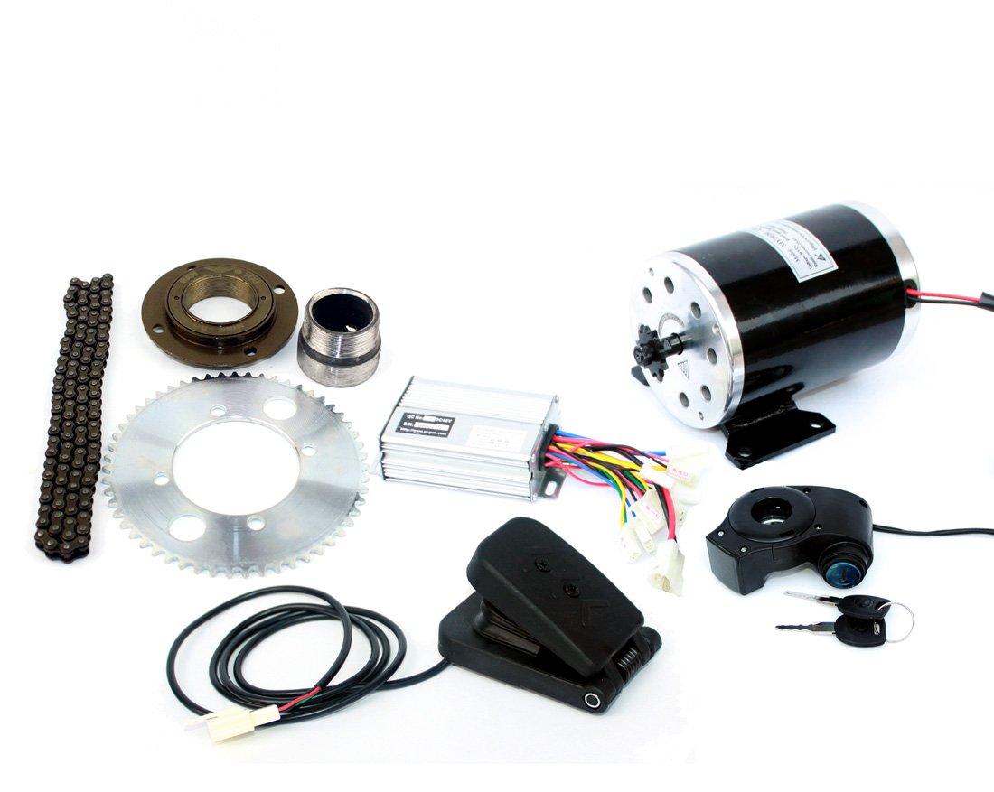 500ワット電動オートバイモーターキット使用25 25hチェーンドライブ高速電動スクーター交換電気ゴーカート変換キット B07C3NV8ZN 24V500W pedal kit 24V500W pedal kit