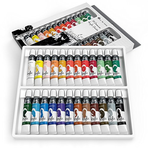Castle art supplies acrylic paint set for beginners for Watercolor supplies for beginners