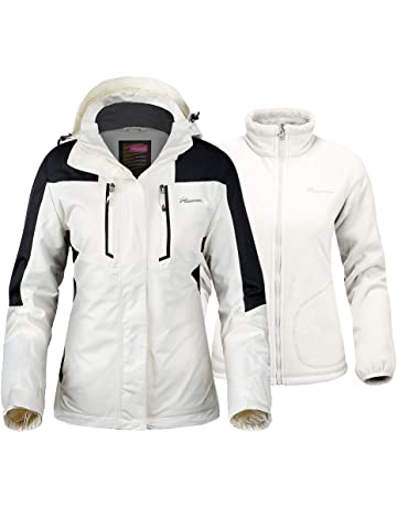 OutdoorMaster Women s 3-in-1 Ski Jacket - Winter Jacket Set with Fleece  Liner 5af9063b5