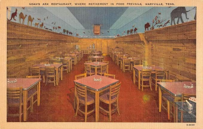 Maryville Tennessee Interior Noah S Ark Restaurant Linen