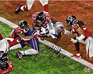 "James White New England Patriots Autographed 8"" x 10"" Super Bowl LI Champions Game-Winning Touchdown Photograph - Fanatics Authentic Certified"