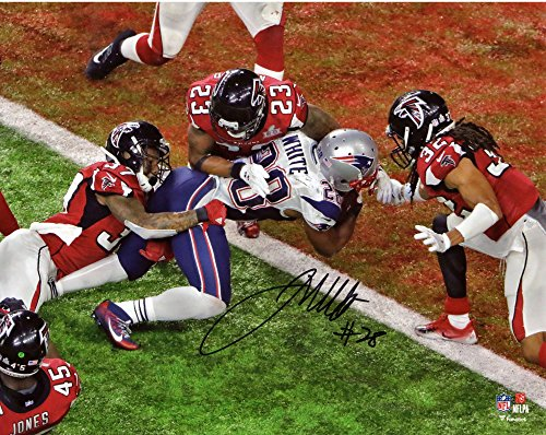 New England Patriots Memorabilia - James White New England Patriots Autographed 8